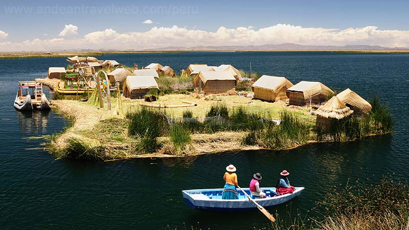 Floating Uros Islands Lake Titicaca